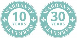 10 year and 30 year warranty