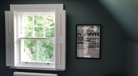 wooden window for installations on home page website