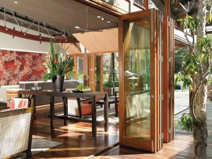 Tan Bi-fold Doors