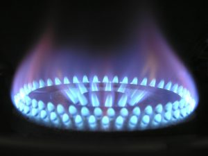 Gas stove using energy